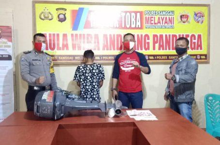 Polsek Toba Ungkap Kasus Pencurian Mesin Speedboat