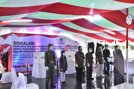 KPU Simulasi Pencoblosan, Dihadiri Pjs Bupati Sintang