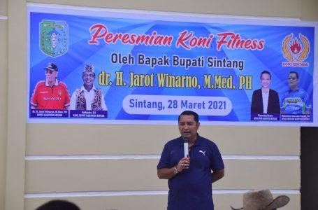 Bupati Sintang Resmikan KONI Fitness